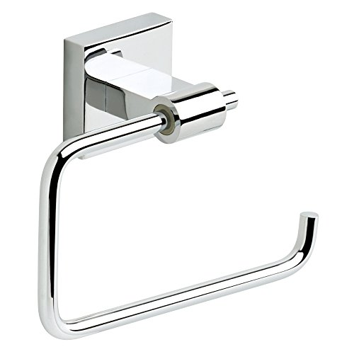 Franklin Brass MAX50-PC Maxted Toilet Tissue Paper Holder, Polished Chrome (Brass Toilet Paper Roll Holder)