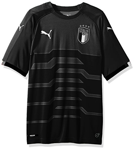 Goalkeeping Graphic Jersey (PUMA Men's FIGC Italia Goalkeeper Shirt Replica, Black, M)