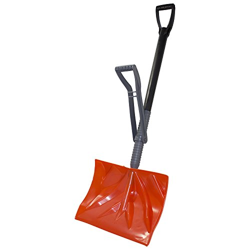 Emsco Group EMSCO Bigfoot Combination Snow Shovel with Adjustable Ergonomic Handle – Alleviates Bending and Strain on Lower Back – Adjusts to User's Height by Emsco Group
