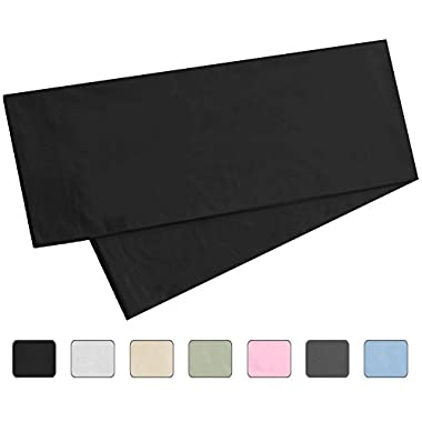 Body Pillowcase, 100% Cotton, 300 Thread Count, 21x60 Body Pregnancy Pillow Cover by American Pillowcase, Fits 20 x 54, Black