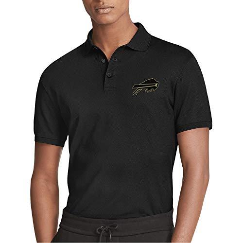Buffalo Short Sleeve Polo Shirt - RegiDreae Men's Short Sleeve Polo Shirt Cotton Regular Fit T-Shirts