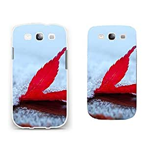 Slim Back Protective Cell Phone Case Cover Shell with Pretty Nature Scenery Print Samsung Galaxy S3 I9300 Hard Shell for Girls (BY222: red maple leaf)