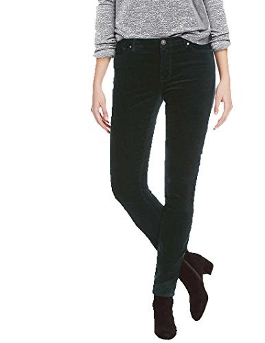 Buffalo Womens MID-Rise, Stretch, Skinny, Velvet Pant (2/26), Green