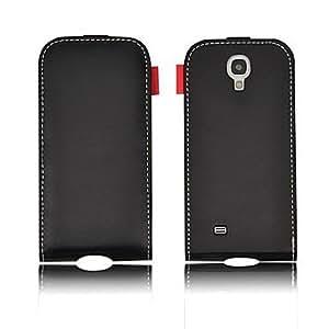 conseguir Angibabe Pure tirón Slot caja de cuero con la tarjeta para Samsung Galaxy SIV S4/i9500 , Negro