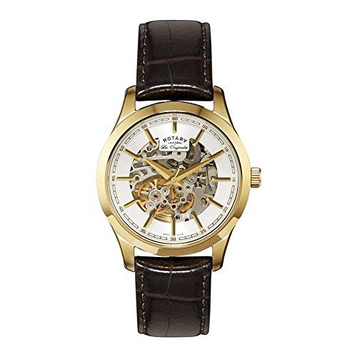 Rotary Men's GS90526/06 Jura Analog Display Automatic Self Wind Brown Watch