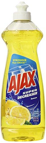 Ajax Super Degreaser Dish Liquid, Lemon, 14 Fluid Ounce