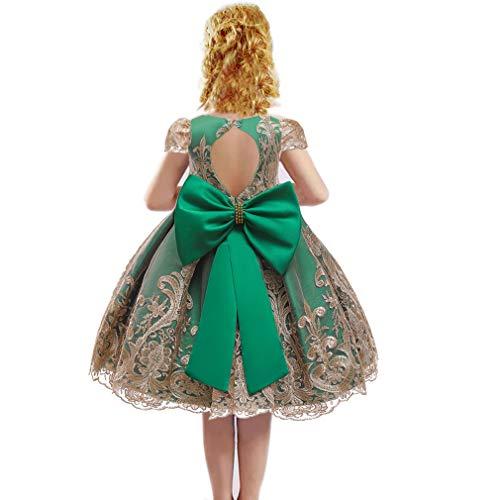 Gaga City Prinsessenjurk voor meisjes, jurk voor doop, avond, organza, jurk voor bruiloft, ceremonie, strik en…