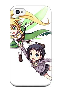 New Style Tpu 4/4s Protective Case Cover/ Iphone Case - Anime White Sword Art Online Sao Girls