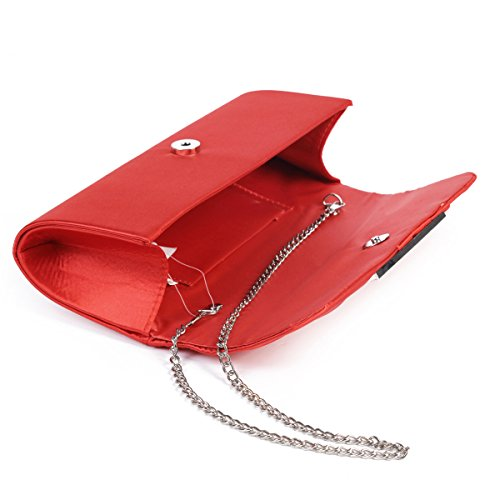 Handbag Large Evening Chic Damara Clutch Lady Silver Women's Pleated Satin Bag 1Bfzwx