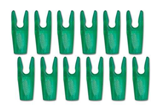 - Carbon Express Soma Pin Nock, Size #1 (14-18 Strand Strings), 12-Pack, Green