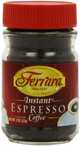 Ferrara Instant Espresso Coffee, 2-Ounce Glass Jars (Pack