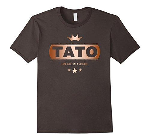 Mens Tato Like Dad Only Cooler Tee-Shirt for a Ukrainian Father Large Asphalt