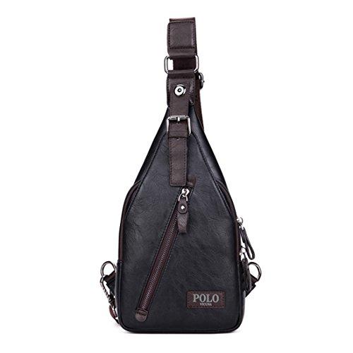 VICUNA POLO Sling Backpack Men Leather Chest Bag Crossbody Shoulder Bag For Men - Handbag One Shoulder Leather