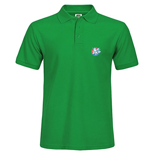 Machine Printed Viking Raider Barbarian Warrior Axe Circle Retro Polo Shirt Stylish Men Green Shirts Short Sleeve Xxx-large - Outlet Gulfport