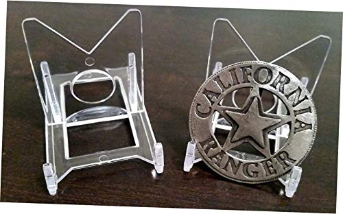 WEISSTORE New 2 Piece Adjustable Box of 20 Baseball Trading Card Holder Clear Display Stands - RK34 ()