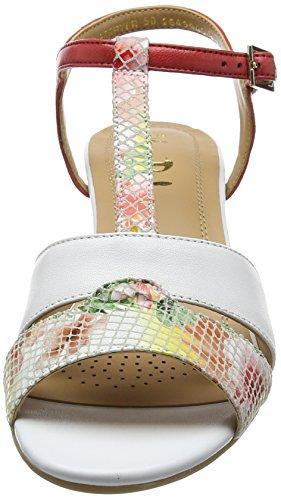 Van Dal Forster, Sandalias con Tira a T para Mujer Multicolour (white/tropical)