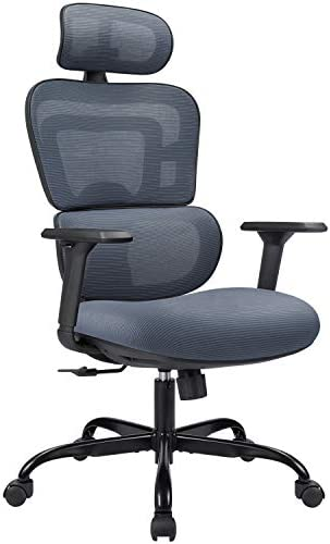 High-Back Home Ergonomic Office Chair Breathable Mesh Desk Chair Computer Task Chair