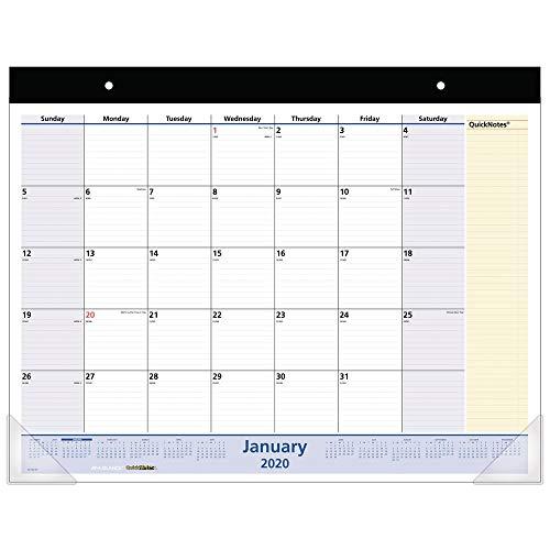 AT-A-GLANCE 2020 Desk Calendar, Desk Pad, QuickNotes, 21-3/4