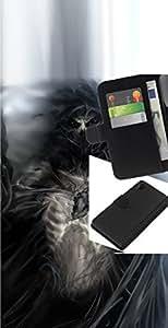 All Phone Most Case / Oferta Especial Cáscara Funda de cuero Monedero Cubierta de proteccion Caso / Wallet Case for Sony Xperia Z2 D6502 // Gothic Skull Skeleton Devil Demon