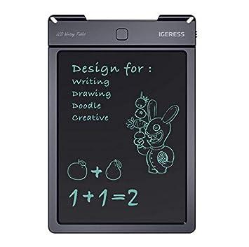 xnbnsj Pizarra electr/ónica peque/ña con pantalla LCD para escritura de ni/ños 9inch Black Backgroud Colorful Font