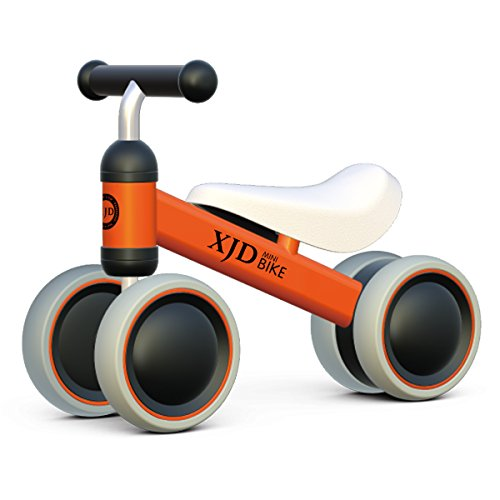 XJD Baby Bike Balance Bicycle, Children Walker, Toddler Trike, 10 to 24 Months Baby Toys Toddler Tricycles, Infant bike for 1 Year Old Boys or Girls Indoor Outdoor (Orange)