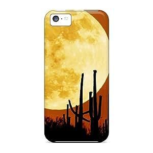 New Design Shatterproof WGDdWOW2409GKHjB Case For Iphone 5c (rising Moon)