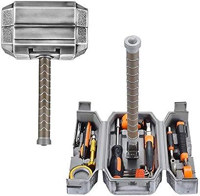 Kit de herramientas Thor Hammer, alicates de caja de herramientas domésticas llenas de reparación diaria ect Kits de reparación de bricolaje Herramientas múltiples Conjunto de accesorios Thor Hammer: Amazon.es: Hogar