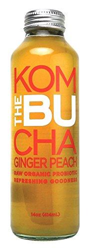Thebu Kombucha Tea Ginger Pouch Organic, 14 oz