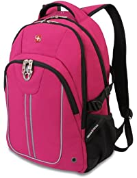 SA3192 Pink with Black Laptop Backpack - Fits Most 15 Inch Laptops and Tablets