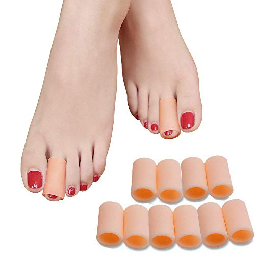 Povihome Toe Sleeves,Gel Toe Protectors and Separators (for Middle Toe) to Protect Hammer Toe, Corn, Calluses,Blisters
