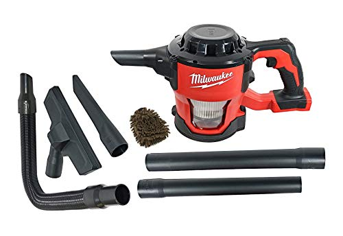 Milwaukee 0882-20 Filter M18 18V Cordless Lithium-ion Compact Vacuum, Hand Held 40 CFM (Complete Set) w/Bonus: Premium Microfiber Cleaner Bundle (Micro Vacuum Battery)
