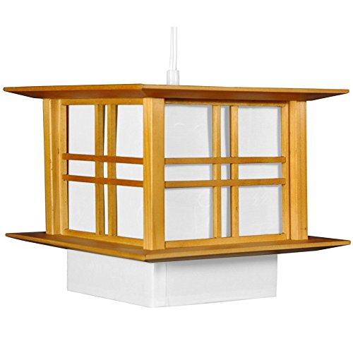 Oriental Furniture Akida Hanging Lamp - Honey