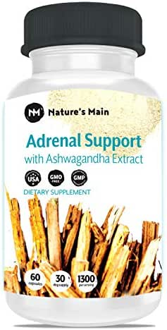 Adrenal Support & Cortisol Manager ǀ Powerful Stress Relief & Adrenal Fatigue Supplement for Adrenal Health ǀ Energy Pills with Aswaghanda, Rhodiola, Ginseng & Licorice ǀ 60 Capsules