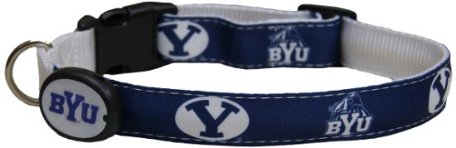 Dog-E-Glow Brigham Young University Cougars LIghted LED Dog Collar, Large, 15-Inch by 21-Inch