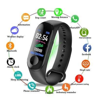 Hi-Tech-Global, Reloj Inteligente, Negra.