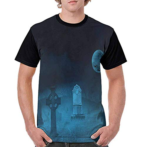 BlountDecor Classic T-Shirt,Ghostly Graveyard Halloween Fashion Personality -