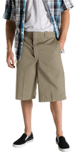 Dickies Men's Big and Tall 13 inch Loose Fit Multi-Pocket Work Short, Khaki, W52