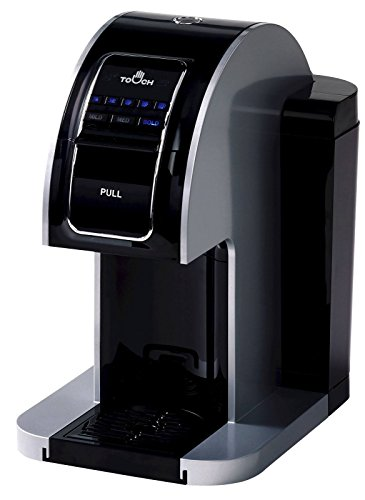 Touch Pro Single Serve Coffee Brewer Commercial Pourover - Black Coffee Maker with Full K-Cup Pod Compatibility & Rapid Brew Technology - T714CP