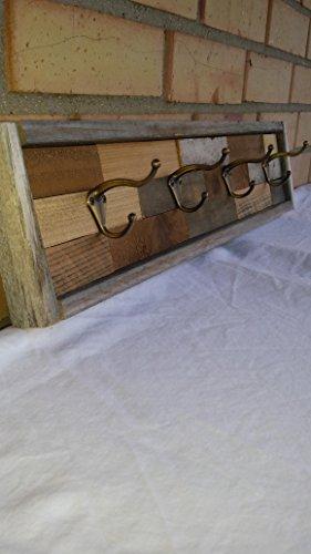 Rustic Coat Rack or Hat Rack made of reclaimed wood