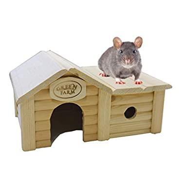 Small animal house with annex for hamster, rat, mouse