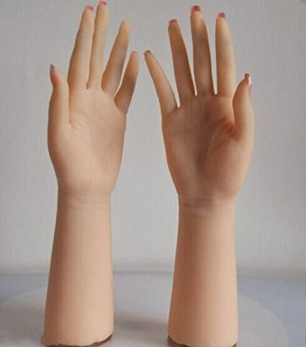Long – Realistic Silicone hand Female Displays Model Mannequin 1-Pair by FUNDA