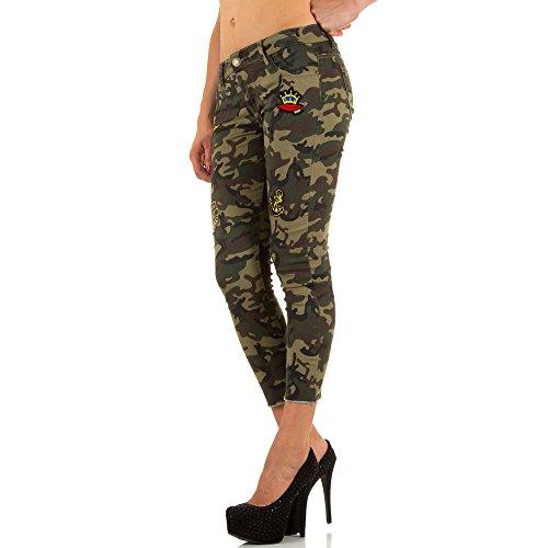 Ital-Design - Vaqueros - para mujer Verde
