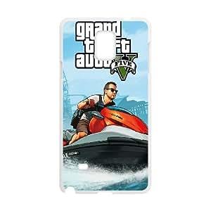 GTA 5 Michael on Jetski Samsung Galaxy Note 4 Cell Phone Case White&Phone Accessory STC_945067