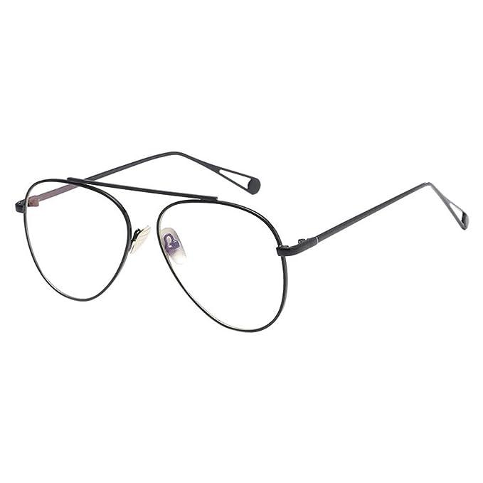 9c20d49cea Hzjundasi Montura Gafas de Aviador para Unisex Hombre y Mujer, Vintage  Lente Transparente Ultrafino Marco de Metal Decoración Retro Gafas:  Amazon.es: Ropa y ...