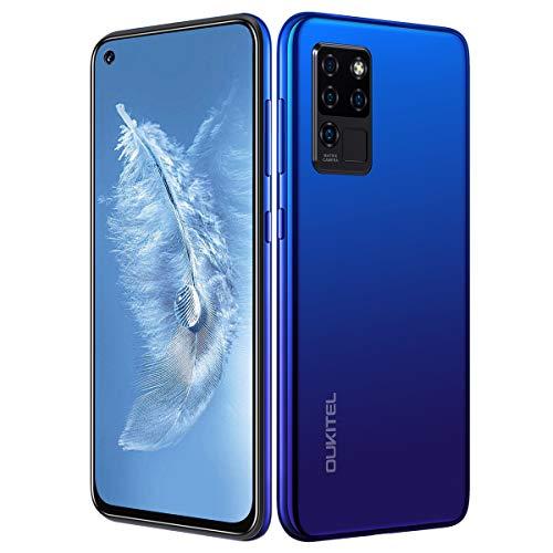 "OUKITEL C21 Unlocked Cellphones 6.4""FHD+ Smartphones Unlock Helio P60 20MP Front Camera 4 Rear Cameras 4000mAh Battery Mobile Phone 4G Dual SIM Face ID&Fingerprint Blue"