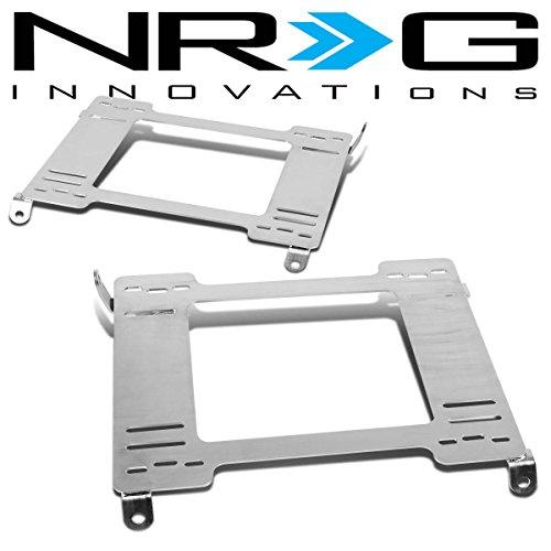 NRG Honda Civic Tensile Stainless Steel Racing Seat Mounting Bracket (Left & Right) - 5th Gen (Racing Seat Mounting Brackets)