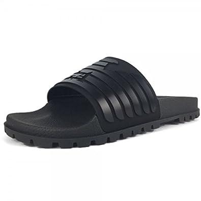 4c17b1eef01 Emporio Armani Black Slides Slippers X4PO77  Amazon.co.uk  Shoes   Bags