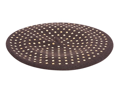 Gravity Gold Colored Studded Beret - Brown (Beret Studded)