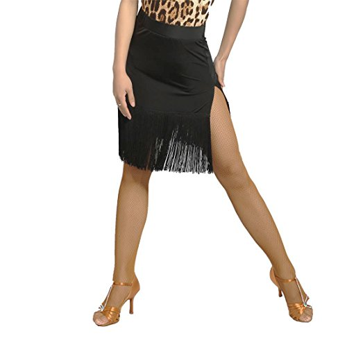 sbs Profesional Latino De Scgginttanz G2012 Mujeres Para Moderno Latin black Danza Baile Falda PHwn5q4