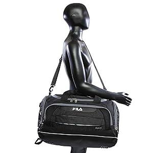 Fila Cypress Small Sport Duffel Bag, Black/Grey, One Size
